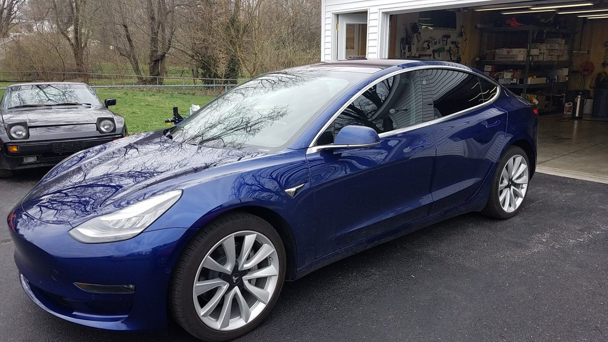 Tesla Model 3 with Ceramic Window Film & Paint Protection Film from Bloomington Window Tint